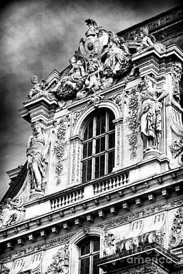 Louve Photograph - Louvre Palace Window by John Rizzuto