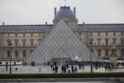 Pyramids Photograph - Louvre - Paris France - 011311 by DC Photographer