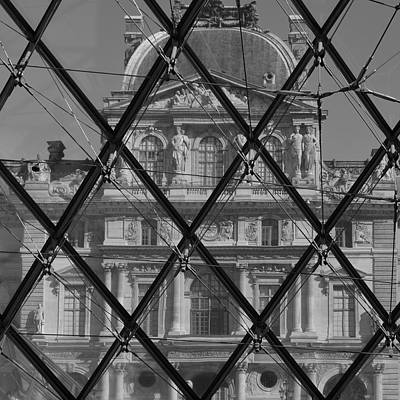 Photograph - Louvre Pyramid by Cheryl Miller