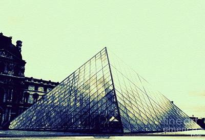 Paris Skyline Royalty-Free and Rights-Managed Images - Louvre Pyramid by Helge