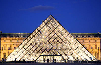 Louvre Pyramid Art Print by Joanna Madloch