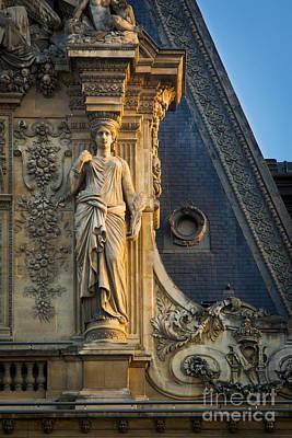 Caryatids Photograph - Louvre Roof Detail by Brian Jannsen