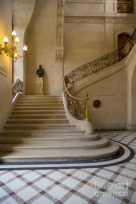 Photograph - Louvre Staircase by Brian Jannsen