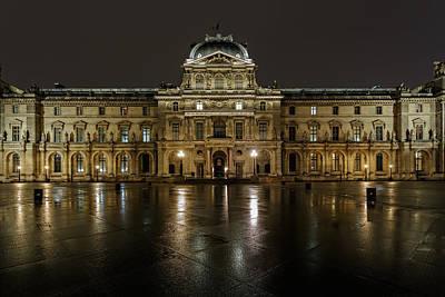 Louvre.pavillon Richelieu Art Print by Rostislav Bychkov