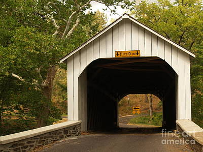 Loux Bridge And Sharp Left - Bucks County  Art Print by Anna Lisa Yoder