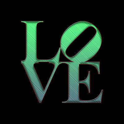 Phillies Digital Art - Love - Green by Becca Buecher