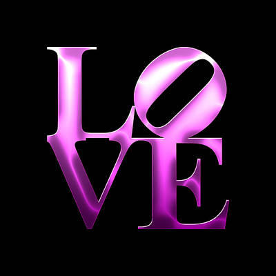 Phillies Digital Art - Love - Purple by Becca Buecher