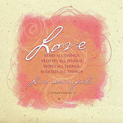 Bible Verse Painting - Love 2 Play by Tammy Apple