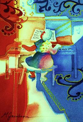 Mixed Media - Love A Piano 4 by Marilyn Jacobson