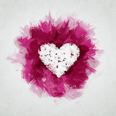 Hearts Mixed Media - Love by Aged Pixel