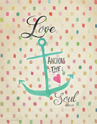 Painting - Love Anchors by Jo Moulton