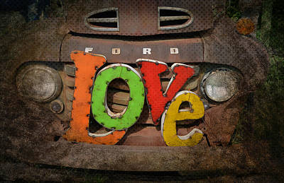 Photograph - Love And A Ford Truck by Carla Parris