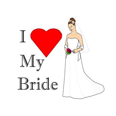 Digital Art - Love And Bride by Florene Welebny