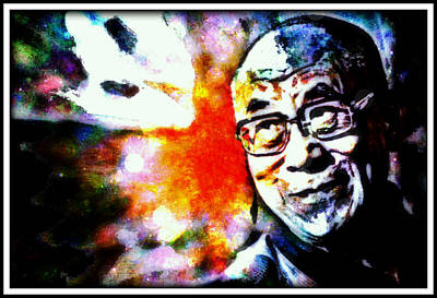 The Dalai Lama Mixed Media - Love And Compassion by Wendie Busig-Kohn