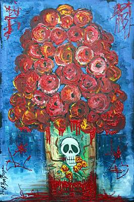 Rose Painting - Love And Death by Laura Barbosa