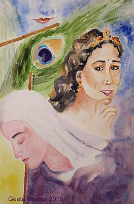 Painting - Love And Devotion by Geeta Biswas