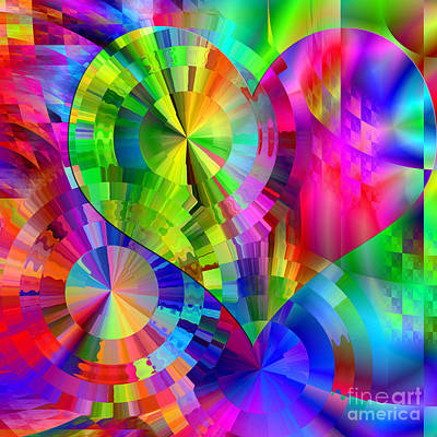 Digital Art - Love And Happiness by Kristi Kruse