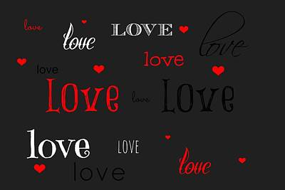Valentines Day Digital Art - Love And Hearts by Chastity Hoff