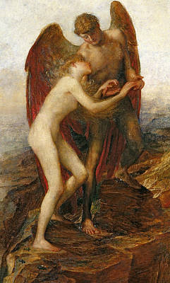 Embrace Painting - Love And Life by George Frederick Watts