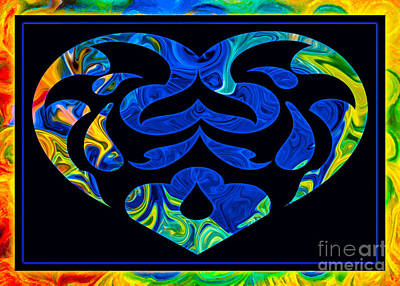 Digital Art - Love And Light Sharing Space Abstract Shapes And Symbols Artwork by Omaste Witkowski