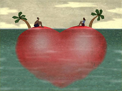 Desert Island Digital Art - Love And Loneliness by Steve Dininno