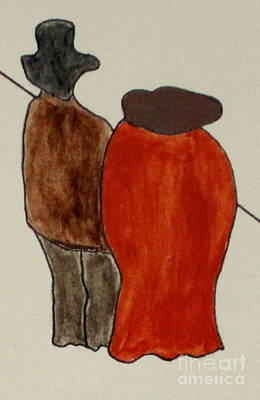 Art Print featuring the painting Love And Marriage by Bill OConnor