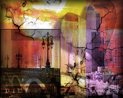 Nyc Mixed Media - Love And Mystery  by Christine Mayfield