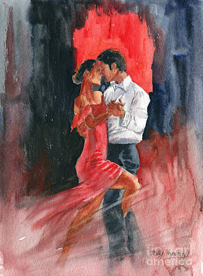 Ballroom Painting - Love And Tango by Melly Terpening
