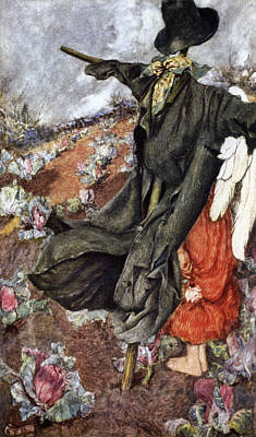 Love And The Scarecrow Art Print by Eleanor Fortescue Brickdale