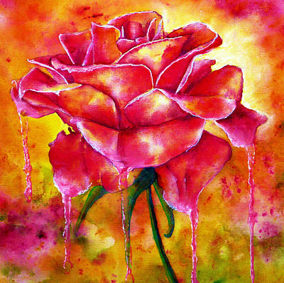 Roses Painting - Love by Ann Marie Bone