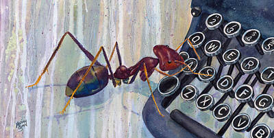 Ant Painting - A Is For Ant by Marie Stone Van Vuuren