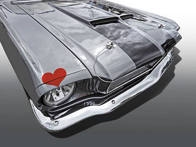 Photograph - Love At First Sight - '66 Mustang by Gill Billington