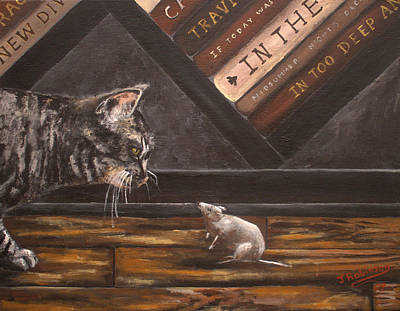 Gerbil Painting - Love At First Sight by Julia Robinson