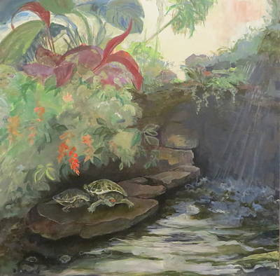 Lamberton Conservatory Painting - Love At The Conservatory by Terri Messinger