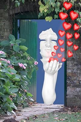 Digital Art - Love At The Door by Ed Lukas