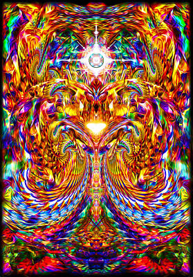 Art Print featuring the digital art Love Awakening by Jalai Lama