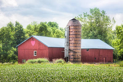 Print featuring the photograph Love Barn by Gary Heller