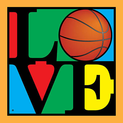 Love Basketball Art Print by Gary Grayson