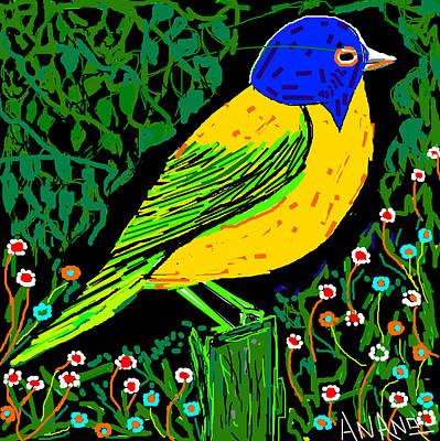 Life Study . Ganesha Digital Art - Love Bird by Anand Swaroop Manchiraju