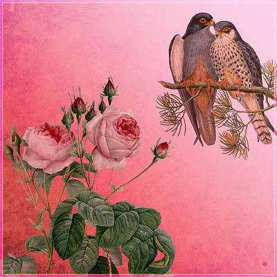 Painting - Love Birds by Gary Grayson