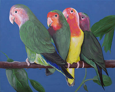Painting - Love Birds by Kathy Weidner