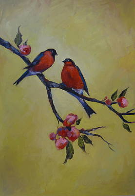 Love Birds Art Print by Kelley Smith