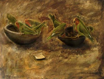 Love Birds Original by Masaad Amoodi
