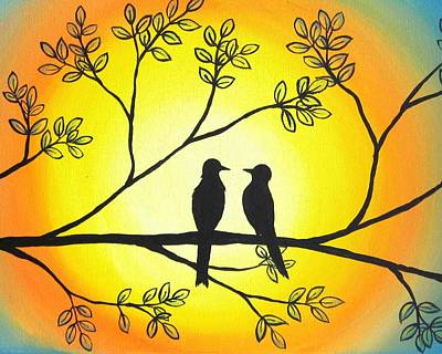 Shins Painting - Love Birds by Michelle Eshleman