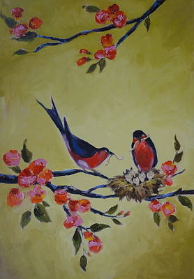 Painting - Love Birds Nesting by Kelley Smith