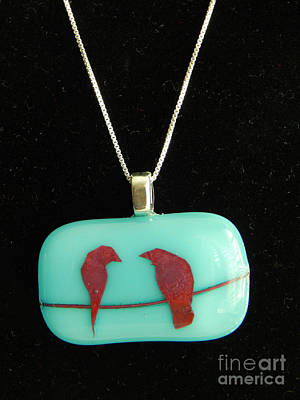 Jewelry - Love Birds by Patricia  Tierney