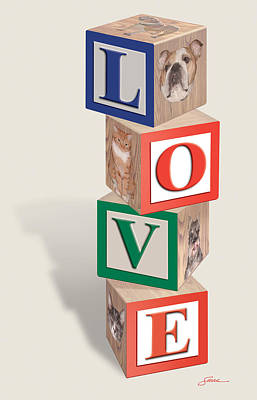 Love Blocks Art Print by Harold Shull
