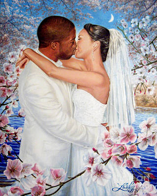 Cherry Blossoms Painting - Love Blossoms by James Loveless