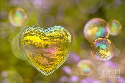 Love Bubble Art Print by Delphimages Photo Creations