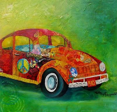 Santana Painting - Love Bug by Kathy Fitzgerald